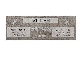 Flat Grave Markers With Vase Mf01 Flat Double Grave Marker Headstone 36