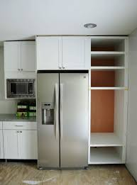fridge that looks like cabinets cabinet surround for refrigerator large size of to make your fridge
