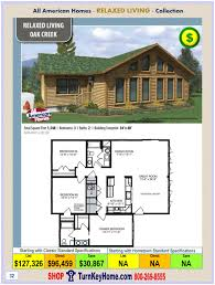 oak creek all american modular home relaxed living collection plan