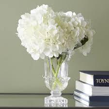 white hydrangea beachcrest home white hydrangea bouquet reviews wayfair