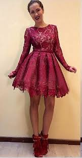 lace prom dress burgundy prom dresses junior prom dress cheap