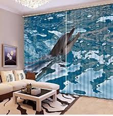 Shark Bedroom Curtains Sproud 3d Bedroom Curtains Shark In The Sea Curtains