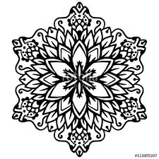 black mandala coloring mandala vector coloring mandala
