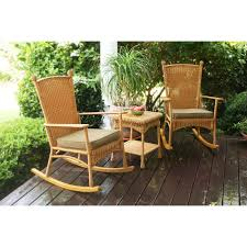 Rattan Chairs Outdoor Tortuga Outdoor Portside Plantation 3 Pc Rocker Set Hayneedle