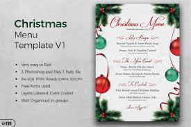 christmas menu template tds