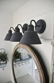 bathroom lighting captivating farmhouse bathroom light fixtures