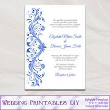 wedding invitations royal blue printable wedding invitation template elegance royal blue word