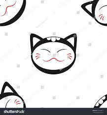 seamless pattern japanese style smiling cat stock vector 417964915 seamless pattern in the japanese style with a smiling cat