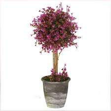vgia home decor purple artificial retro potted plant