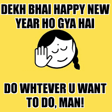 Happy New Year Funny Meme - new year memes in hindi wish you a very happy new year 2018