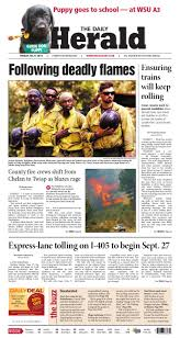 Wildfires Near Ephrata Wa by Everett Daily Herald August 21 2015 By Sound Publishing Issuu