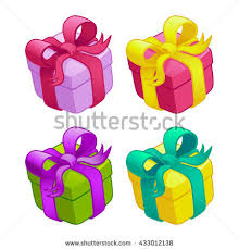 boxes with bows set colorful gift boxes bows ribbons stock vector 433012138