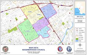 Los Angeles Neighborhood Council Map by Area Boundaries And Map Mar Vista Community Council