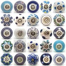 Bedroom Furniture Pulls And Pulls Blue White Purple Lilac Ceramic Door Knobs By Love Handle