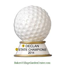 personalized ornaments golf trophy