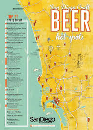 Map Of San Diego by San Diego Craft Beer Spots San Diego Magazine May 2014
