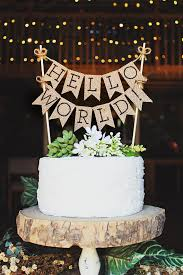 hello cake toppers hello world cake topper baby shower cake topper hello baby
