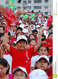 Singapore Flag Button Boy Holding Glove And Singapore Flag Editorial Image Image 7351025