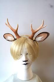 Deer Antlers Halloween Costume Faun Deer Antlers Ears Headband Resin Cast Whitefoxhats