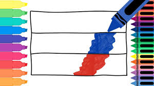 how to draw russia flag drawing the russian flag coloring