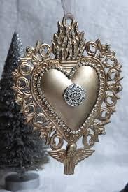 Locket Ornament A Lovely Large Ex Voto Sacred Heart Metal Ornament I Have Taken
