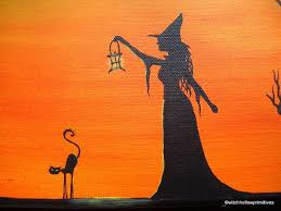 17 best witch hollow primitives halloween folk art paintings