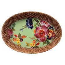 mackenzie childs vase mackenzie childs flower market black rattan u0026 enamel party tray