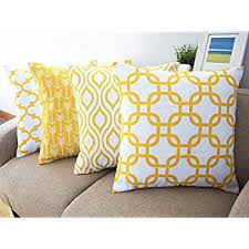 amazon com howarmer canvas cotton throw pillows cover for couch