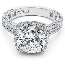 tacori halo engagement rings tacori royalt cushion halo engagement ring polyvore