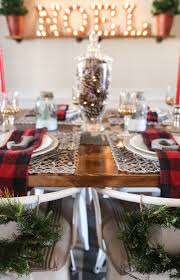 Christmas Dining Room Decorations Cabin Inspired Christmas Tablescape Mountainmodernlife Com