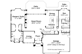 Empty Nest Floor Plans Mediterranean House Plans Corsica 30 443 Associated Designs