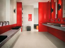 beautiful colorful tiles wall design of modern bathroom with