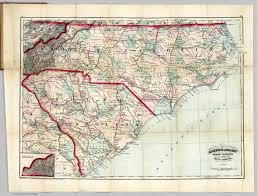road map of south carolina guide of carolina and south carolina david rumsey