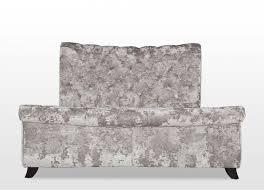 Sofa King Doncaster by Super King 6 Ft Silver Crushed Velvet Bedframe Tivoli