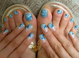 new nail design ideas easy cute summer cover toe nail design