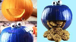 diy cookie monster pumpkin halloween 2015 youtube