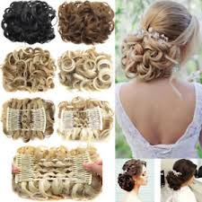 extension hair large comb clip in curly hair chignon updo hairpiece