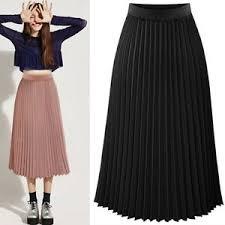 pleated skirt women pleated skirt chiffon elastic waist layer skirt
