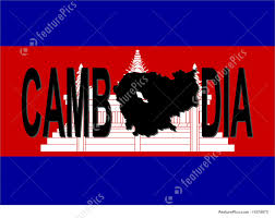 Cambodia Flag Illustration Of Cambodia Text With Map