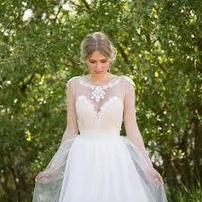 noemi unique wedding dress boho vintage inspired sleeved dress