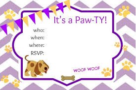 puppy birthday party invitations puppy party invitations