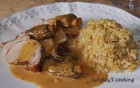 cuisiner les morilles fraiches schotzy s cooking filet mignon de porc aux morilles