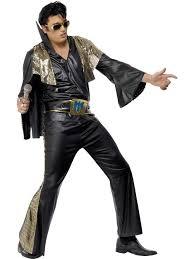 Rockstar Halloween Costumes Rock Roll Black Gold Elvis Presley Rock Star Fancy Dress