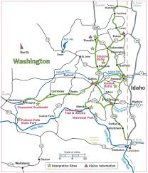 Road Map Of Washington State by Maps Palouse Scenic Byway