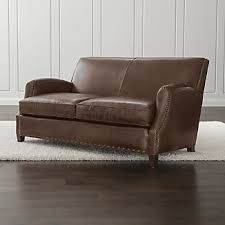 Leather Loveseats Leather Loveseats Crate And Barrel