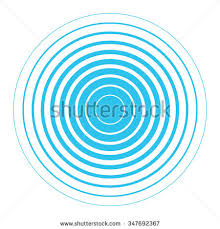 blue white rings sound wave wallpaper stock vector 347692367