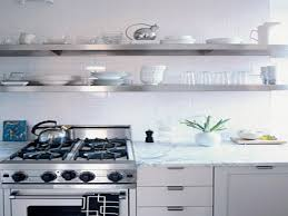 interior sophisticated stainless steel floating shelves designs