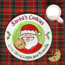 cookies for santa plate kids personalized ceramic plate