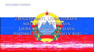 Flag Of Slovenia National Anthem Of Slovenia 1943 1991 Naprej Zastava Slave