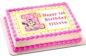 baby minnie mouse 1st birthday b edible cake topper u0026 cupcake